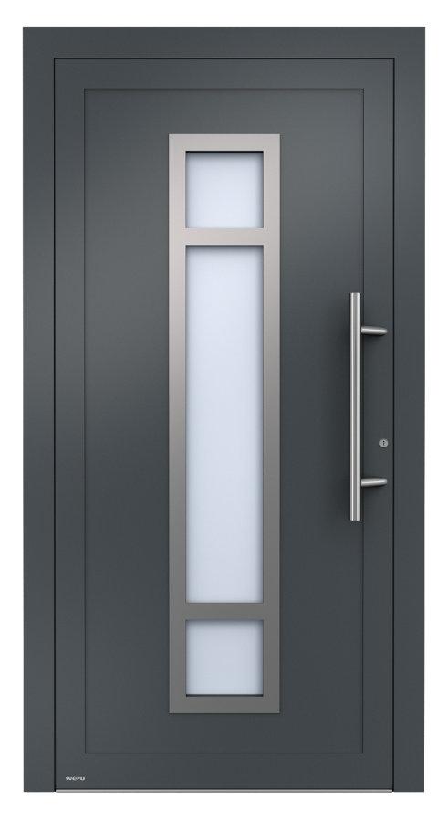 weru aluminium haust ren mit glasfalzf llung portes d. Black Bedroom Furniture Sets. Home Design Ideas