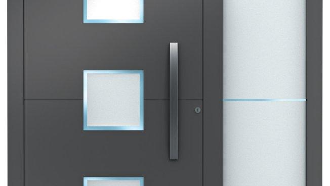 Portes d 39 entr e en aluminium de weru produits for Fenetre weru